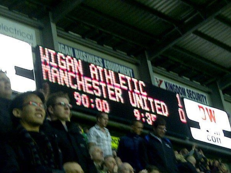 WIGAN ATHLETIC 1 MANCHESTER UNITED 0