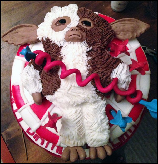 Gremlin Cake Decorated in Modeling Chocolate