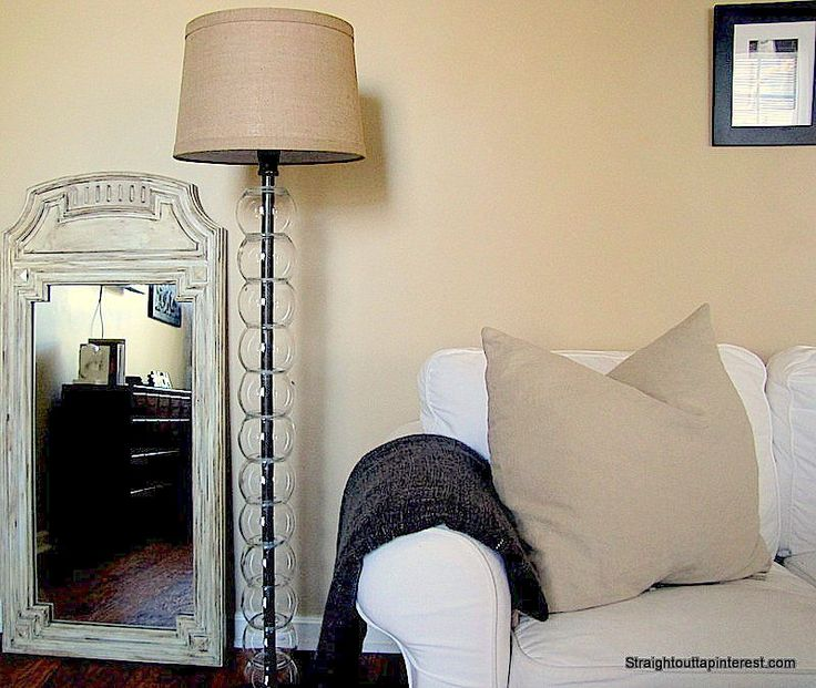 Learn how to save over $350 by making a $42 West Elm Floor Lamp Knockoff