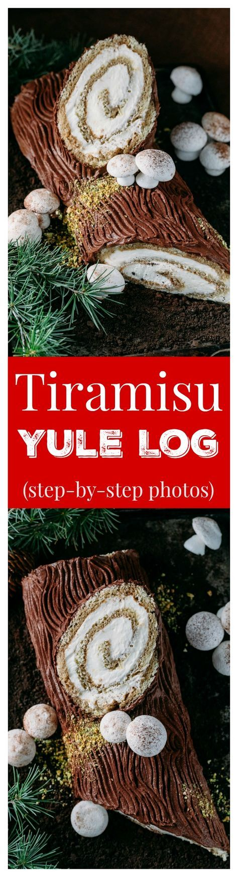 There's nothing more impressive than bringing a log to Christmas dinner; a Tiramisu Yule Log Cake that is! Full photo tutorial for tiramisu yule log cake.
