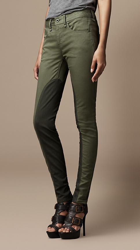 Equestrian Chic: Pilton Contrast Panel Skinny Fit Jeans | Burberry  ...Oh Burberry you always make such beautiful and tempting things!
