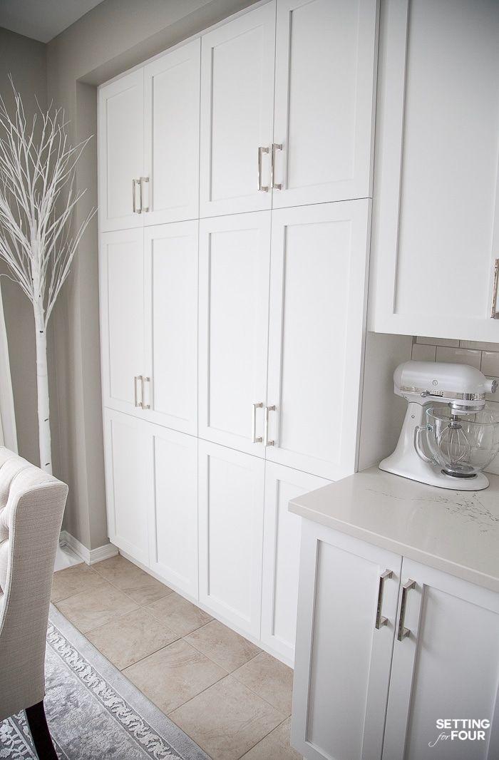 White Shaker Kitchen Cabinet Doors After The Makeover We Refaced Dark Wood Kitchen C Dark Wood Kitchen Cabinets Refacing Kitchen Cabinets White Shaker Kitchen