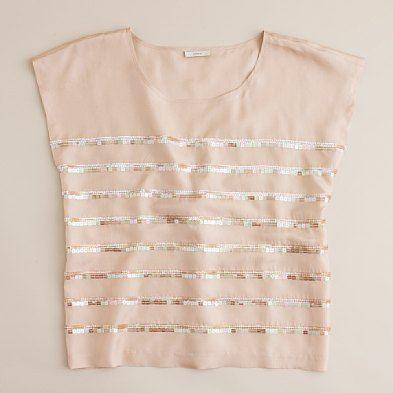 Going out top?: Diy'S Tutorials, Silk Tees, Good Life, Crop Tops, Row Silk, Diy'S Clothing, J Crew Sequins, Tees Diy'S, Sequins Row