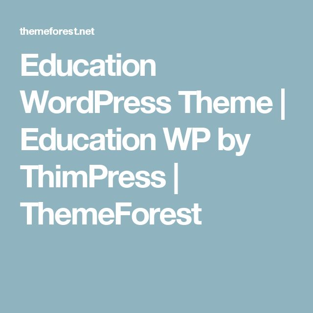 Education WordPress Theme | Education WP by ThimPress | ThemeForest