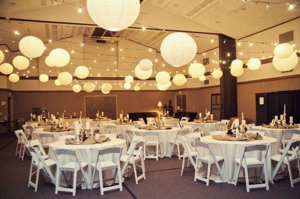 wedding lighting   Mississippi-Church-wedding-reception-ceiling-lights-lanterns
