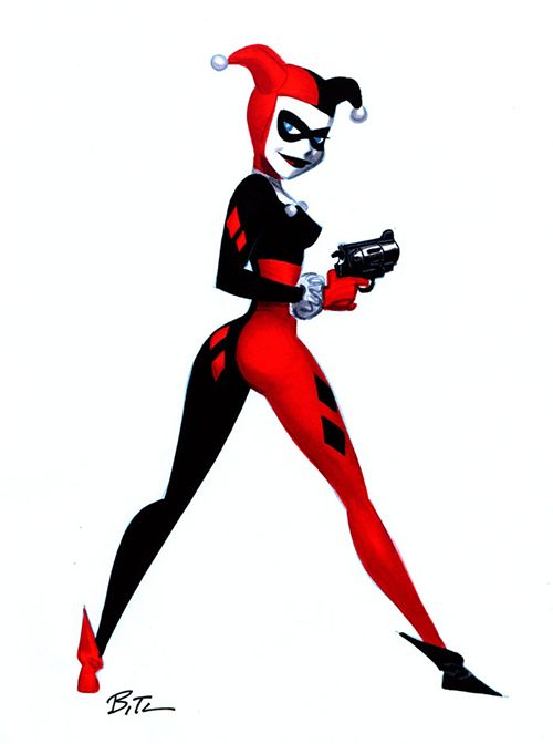 Harley Quinn by Bruce Timm. Classic Harley Quinn is the best in my opinion.