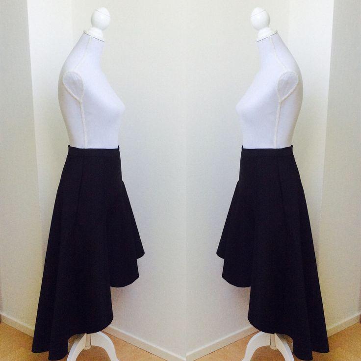 Dip back Skirt made from Japanese Silk