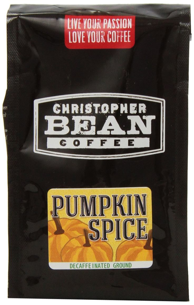 Christopher bean coffee flavored decaffeinated ground