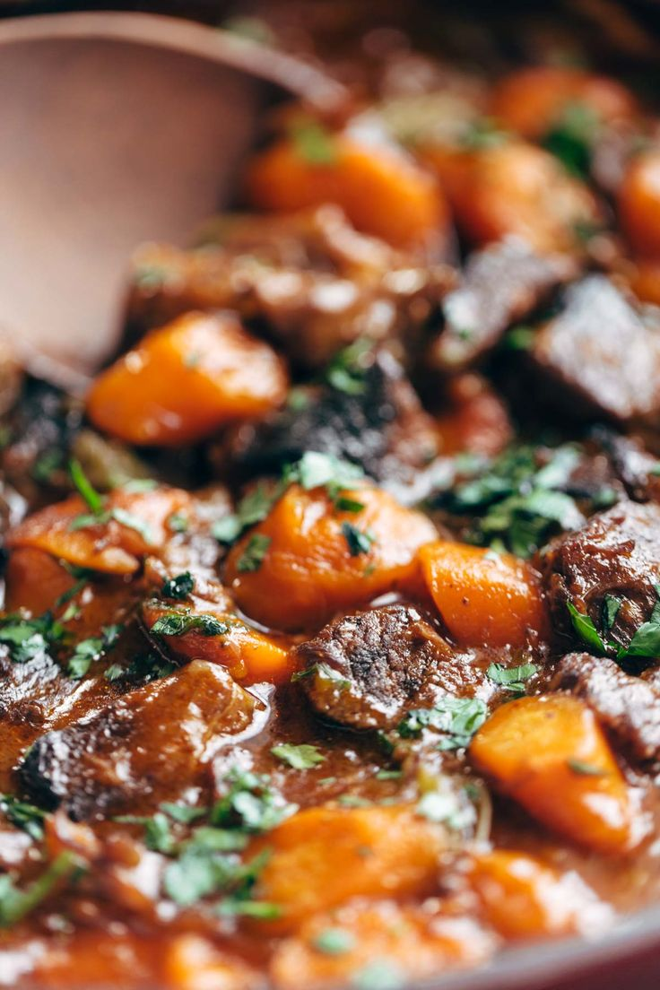 Instant Pot Beef Stew! with crusty bread and a green salad? YES. just 6 ingredients, 45 minutes, and done. gluten free.