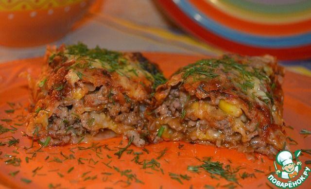 Энчилада из лаваша с мясным фаршем ингредиенты