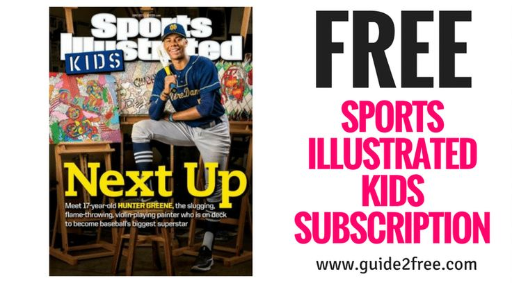 Get aFREE Sports Illustrated Kids Subscription!! No bills and no credit card is needed.Sports Illustrated KIDS Magazine is an exciting publication for kids ages eight to fourteen, and it is widely read by more than seven million young sports fans. Recognized by Parent's Choice and the Educational Press for excellence in publishing, the topics and themes include nutrition tips, information about up-and-coming young athletes, amazing artwork, and feature articles.