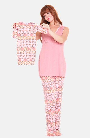 Free shipping and returns on Olian 3-Piece Maternity Sleepwear Gift Set at Nordstrom.com. A cozy sleepwear set features a surplice top that's perfect for nursing, a loose-fit tie tunic and comfy cotton pants. A matching gown for your newborn completes the sweet ensemble.
