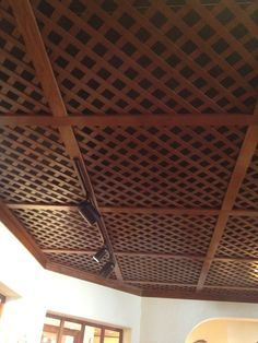 lattice basement ceiling - Google Search