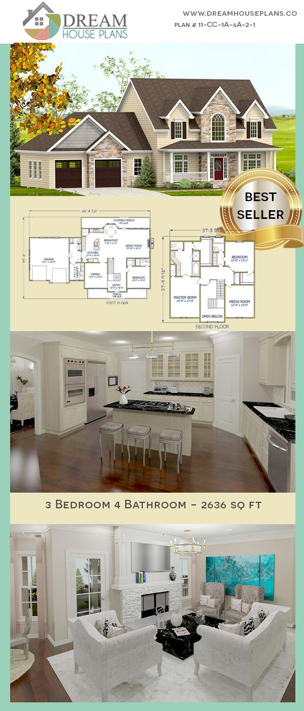 Dream house plans affordable southern family bedroom sq ft