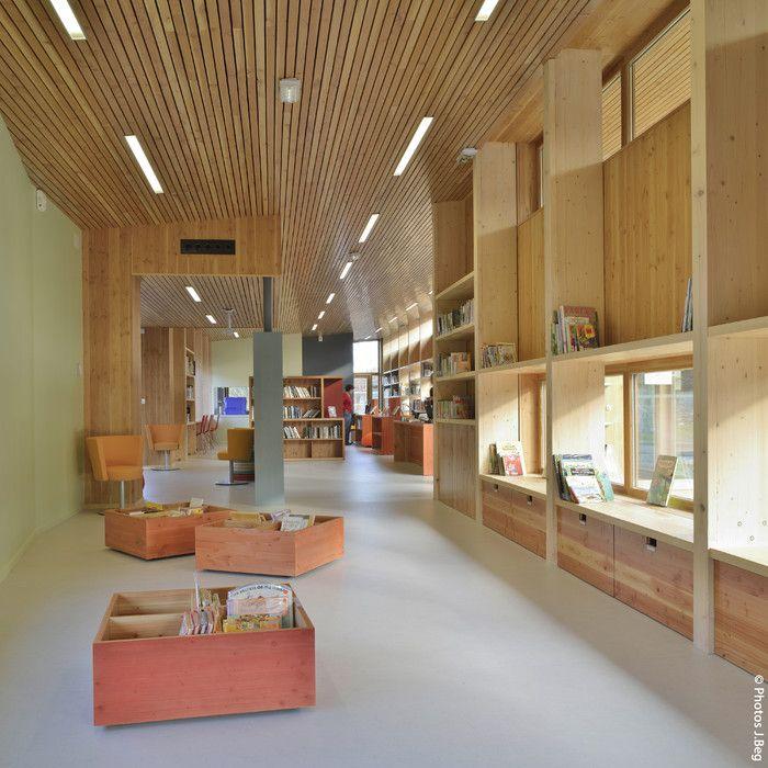 Prix national de la construction bois - Panorama - Une bibliothèque médiathèque à Treffort Cuisiat
