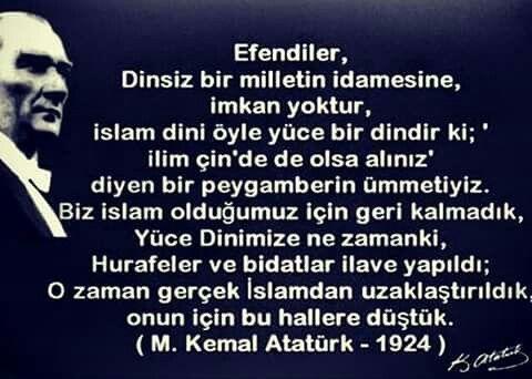 Atatürk ve İslam.. Kendi sözünden bu kadar net anlatılamaz..