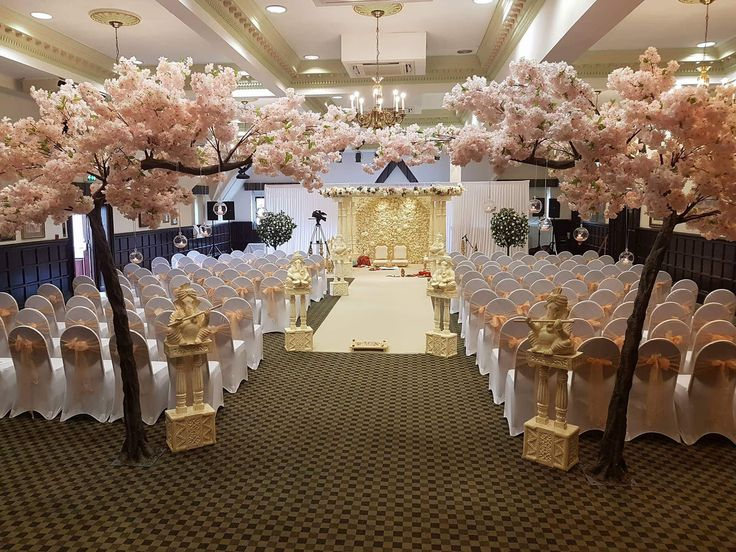 Blossom Tree Asain Wedding Ceremony Set Up In Our Sunningdale Suite Dunston Hall