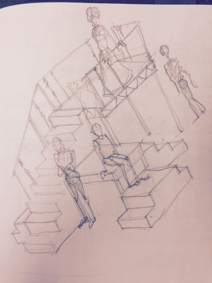 Designer Charlie Cridlan's drawing of the set for Romeo and Juliet as part of THE STREETS at Theatre Royal Stratford East.