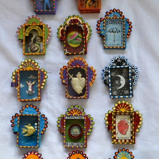 Matchbox-sized Mexican art (from Mexico Import Arts Australia)