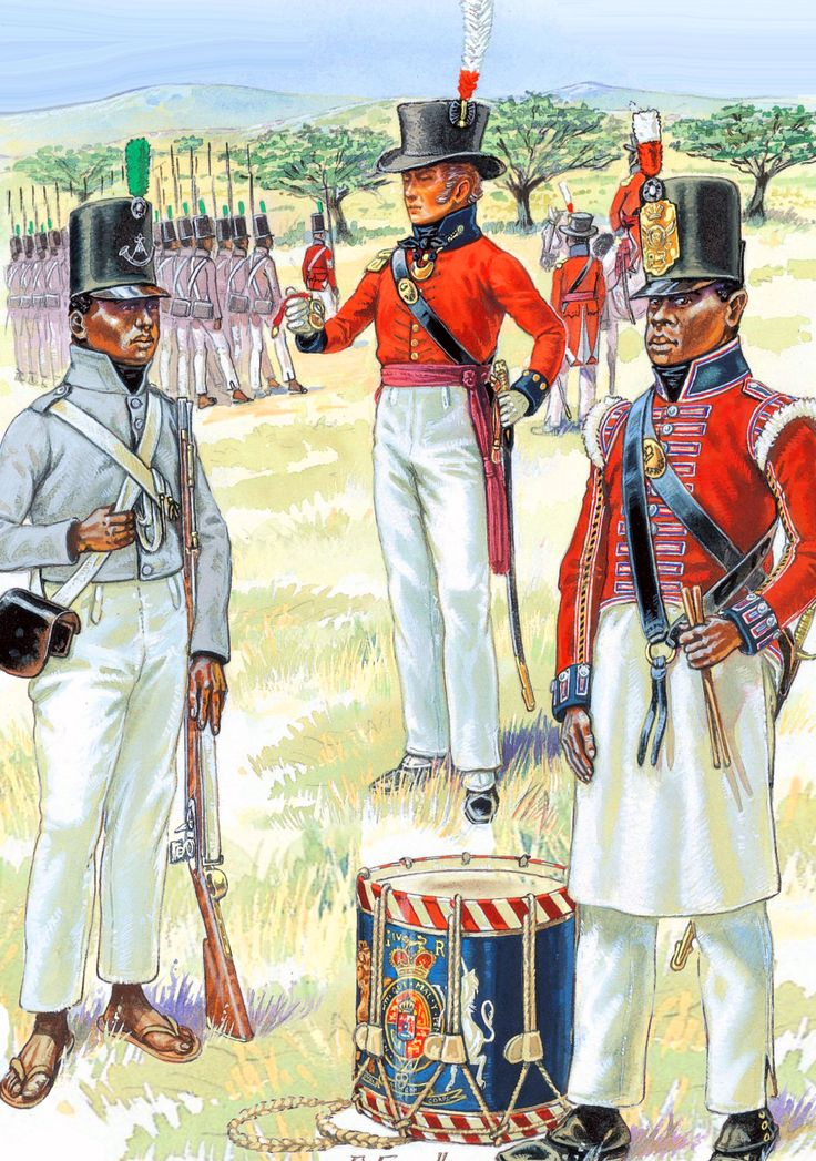 British Emigre and Foreign troops in Africa: Cape Regiment and the Royal African Corps