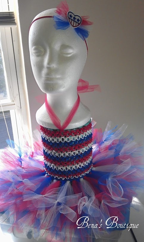 Newborn/Infant 4th of July tutu dress!!  #4thofjuly , #4thofjulydress , #newborndress