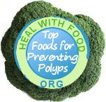 7 Foods That Help Prevent Colon Polyps:  Broccoli, Red Peppers, Onions, Turmeric, Spinach, Garlic, and Arugula