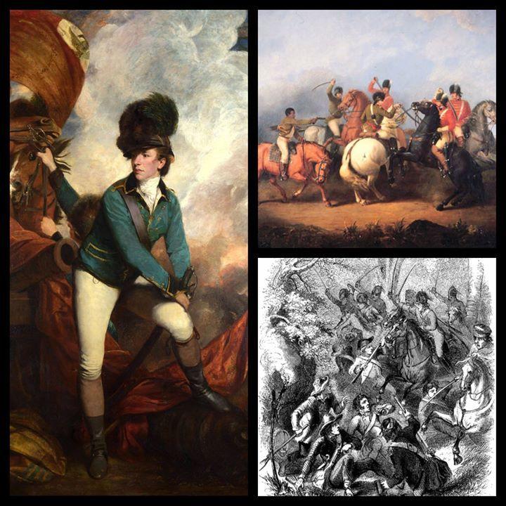 BRITISH COLONEL BANASTRE TARLETON AMERICAN REVOLUTION PAINTING ART CANVAS PRINT