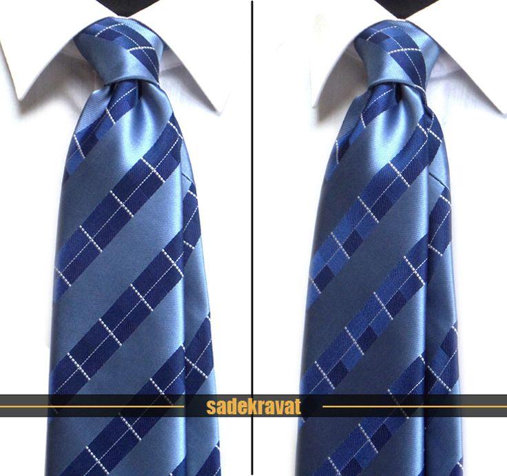 Mavi Lacivert Kareli Çizgili Kravat 4170  7,5 cm. Modern Orta Stil...  www.sadekravat.com/mavi-lacivert-kareli-cizgili-kravat-4170  #kravat #kravatım #kravatmodelleri #tie #tieoftheday #pocketsquare #örgükravat #ketenkravat #ipekkravat #slimkravat #bordokravat #mürdümkravat #ortaincekravat #incekravat #gömlek #ceket #mendil #kravatmendilkombin #ofis #bursa #türkiye #çizgilikravat #şaldesenlikravat #ekoselikravat #küçükdesenlikravat #düzkravat #sadekravat