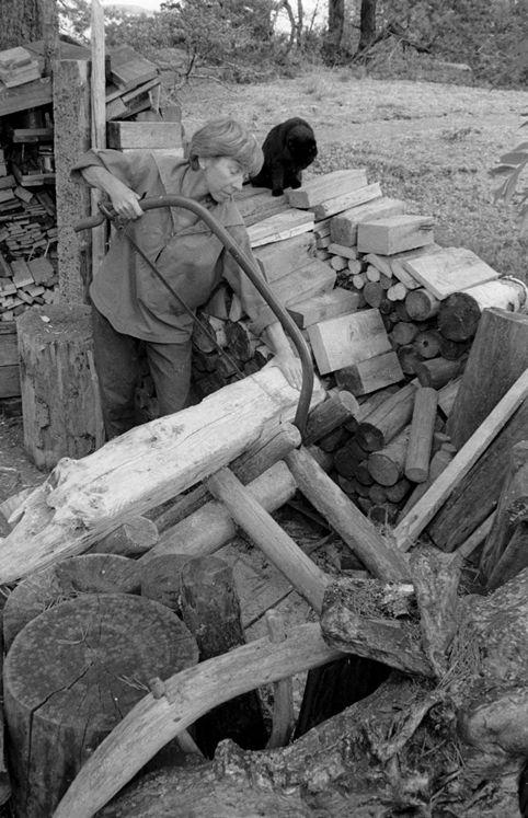 Tove Jansson on Klovharu island 1930s, by Per Olov Jansson Finland