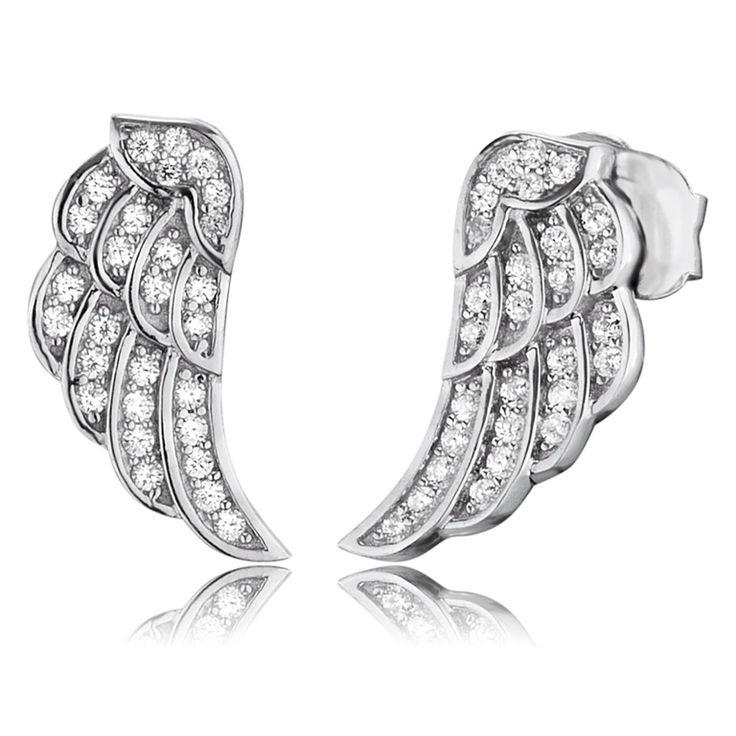 Engelsrufer - Örhängen Wing Mini Silver