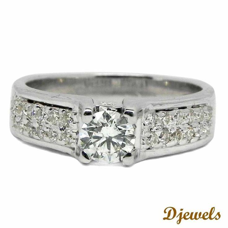 PMinnie Engagement Ring In Hallmarked White Gold P