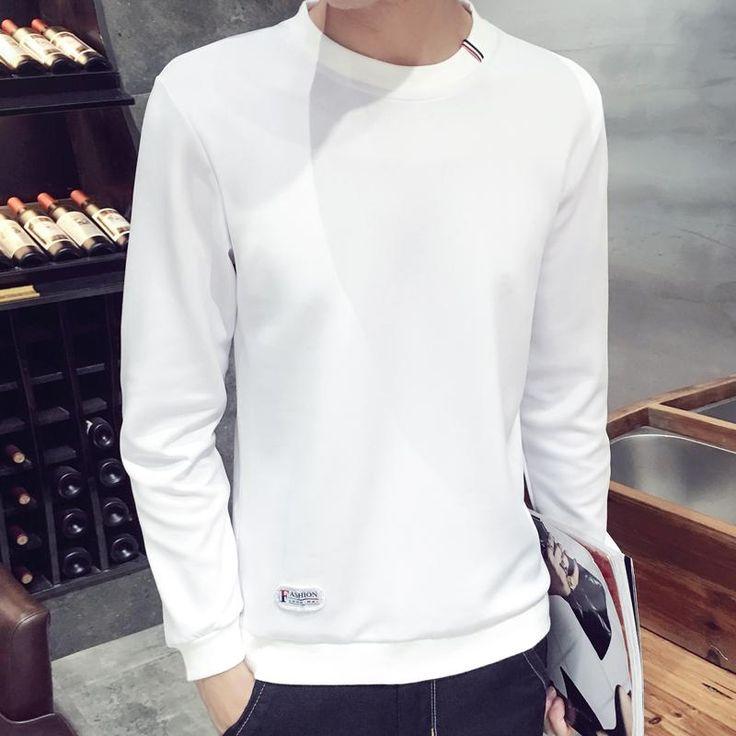 2017 spring Autumn Fashion solid New casual Male Streetwear long sleeve Hoodies Men pullover  Sweatshirts plus size 3XL 4XL