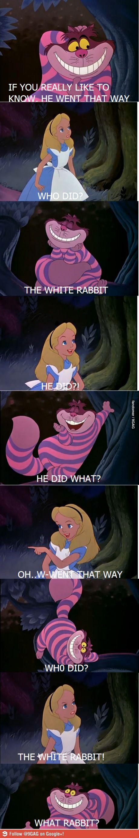 Love the Cheshire Cat!