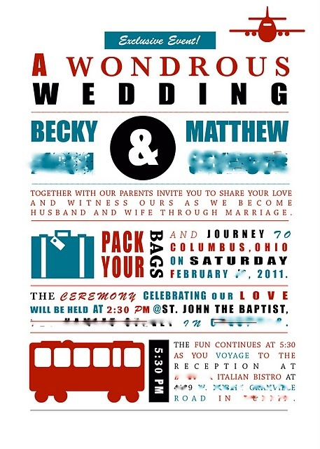 Travel Themed Wedding Invitation. Love The Layout.