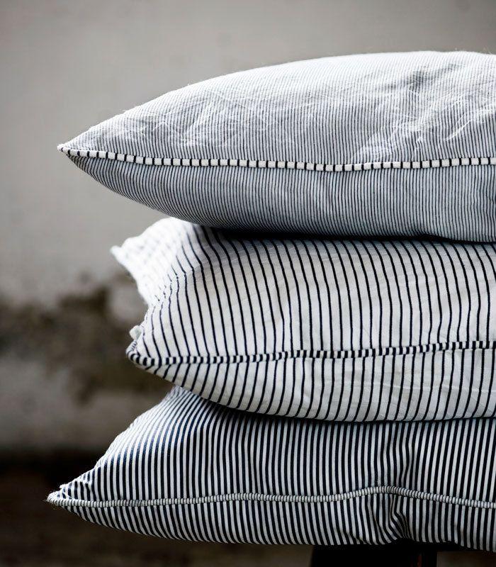 Indigo Stripe Cushion by Tina K Home | Mora Scandinavian Emporium