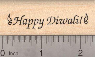 Happy Diwali Rubber Stamp Devali Deepavali Hindu Festival of Lights * Click image for more details.