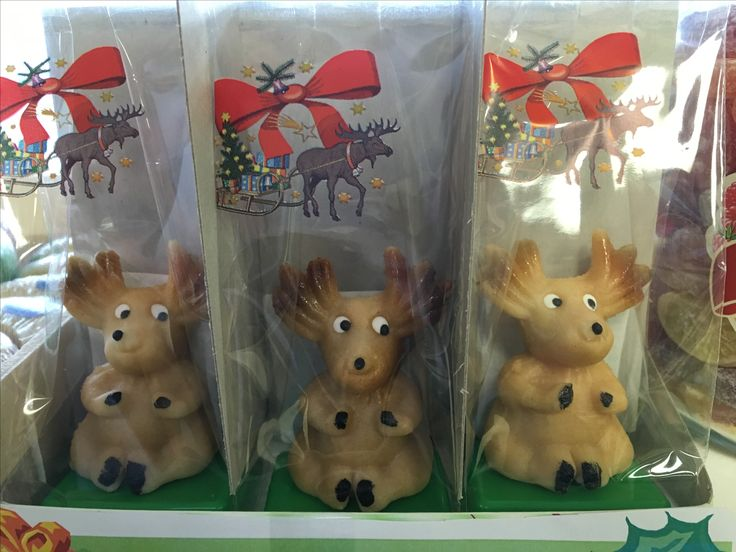 Marzipan reindeer! Stuff your stockings with these sweet treats! At our store this week.