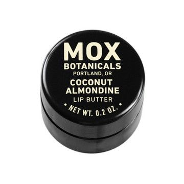 Mox Botanical's Coconut Almonine lip butter is infused with coconut and almond extract, which give the shea butter its subtle and delicious flavor. It's much richer and more moisturizing than your standard lip balm—incorporating the benefits of avocado butter, jojoba oil and meadowfoam seed oil. It's time to give your lips a little luxury, they deserve it.