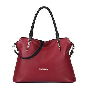 LAORENTOU Marca bolsa de Mensajero de cuero Genuino bolsos de las mujeres bolsos de diseño de lujo 2016 nueva moda para mujer de hombro bolso de mano