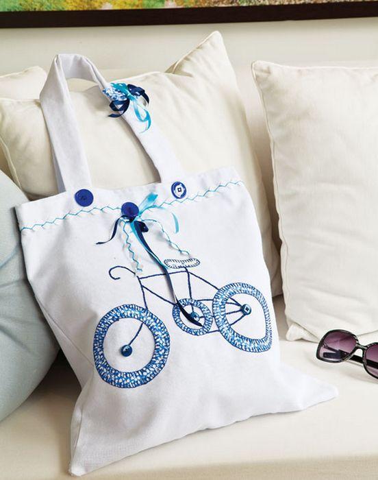 Шьем летние пляжные детские сумки с аппликацией