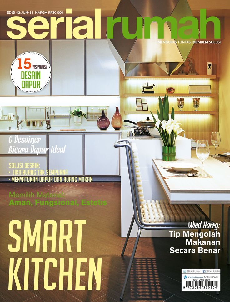 interior, magazine, design, smart kitchen, cover serial rumah
