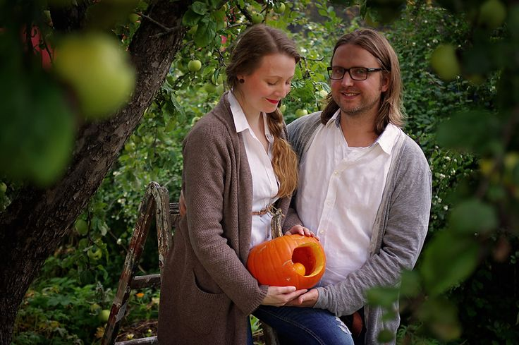 pregnancy reveal Pregnancy announcement with pumpkin