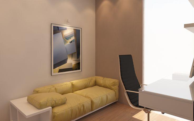 рабочий кабинет, кабинет дома, интерьер кабинета, дизайн кабинета в минимализме, квартира в стиле минимализм