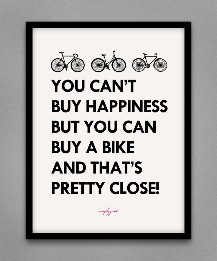 buy a bike! #bike #happiness