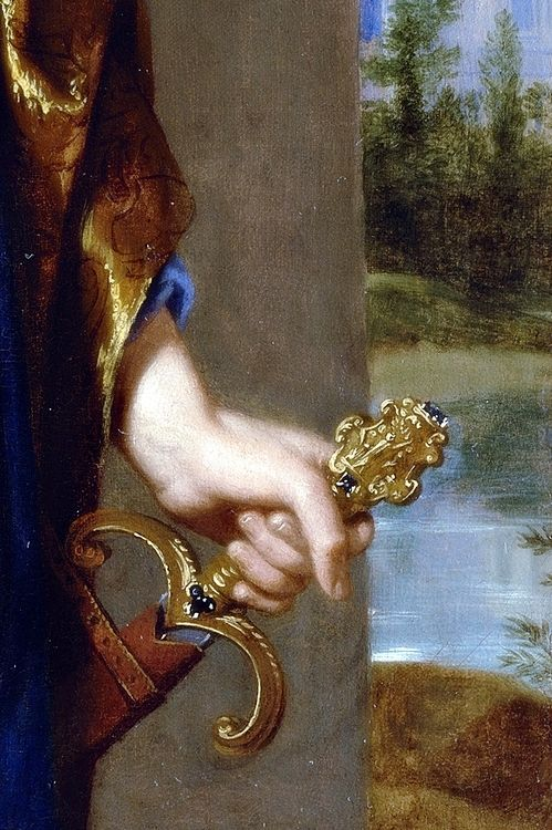 Portrait of Jean de Thévenot (1633-1667), Detail. by Philippe de Champaigne