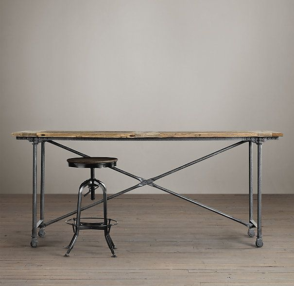 29 best images about rustic table for office on pinterest for Table 6 kitchen and bar
