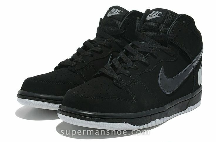 Black on black high tops Nike's for groomsmen