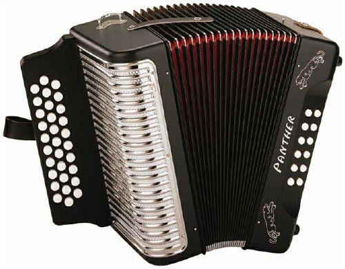 Hohner Panther G/C/F 3-Row Diatonic Accordion – Black  http://www.instrumentssale.com/hohner-panther-gcf-3-row-diatonic-accordion-black/