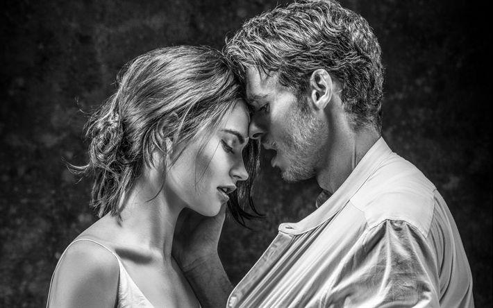 Descargar fondos de pantalla Lily James, Richard Madden, los actores Británicos, retrato