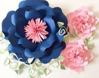 Fleur de papier toile de fond pièce maîtresse de par APaperEvent